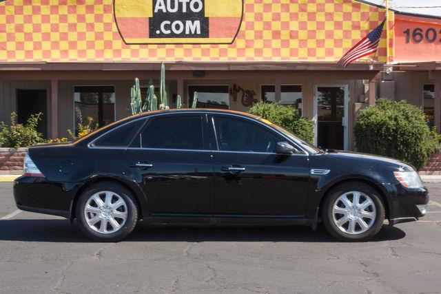 2008 FORD TAURUS 4D SEDAN LIMITED Black Clearcoat air conditioning wheels aluminumalloy power