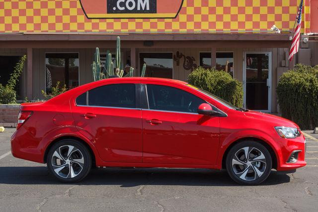 2017 CHEVROLET SONIC 4D SEDAN PREMIER AT Red Hot air conditioning wheels aluminumalloy power