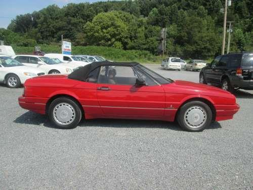 1990 CADILLAC ALLANTE RED 4-speed at 4-wheel disc brakes 8 cylinder engine ac at abs ad