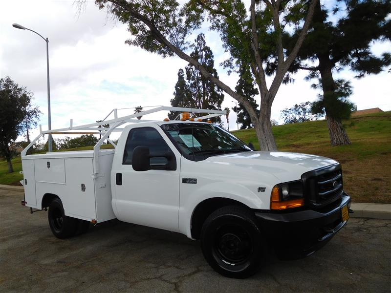 2001 FORD F-350 SERIES  2001 ford f-350 utility truck v-10 auto trans ac low 118k miles 9 p