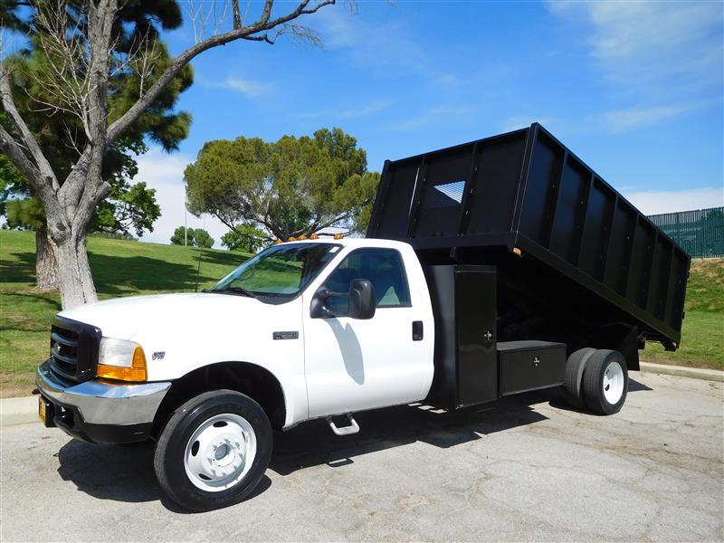 2000 FORD F550 DUMP TRUCK  2000 ford f-550 dump truck v-10 auto trans ac low 73k miles 14 s