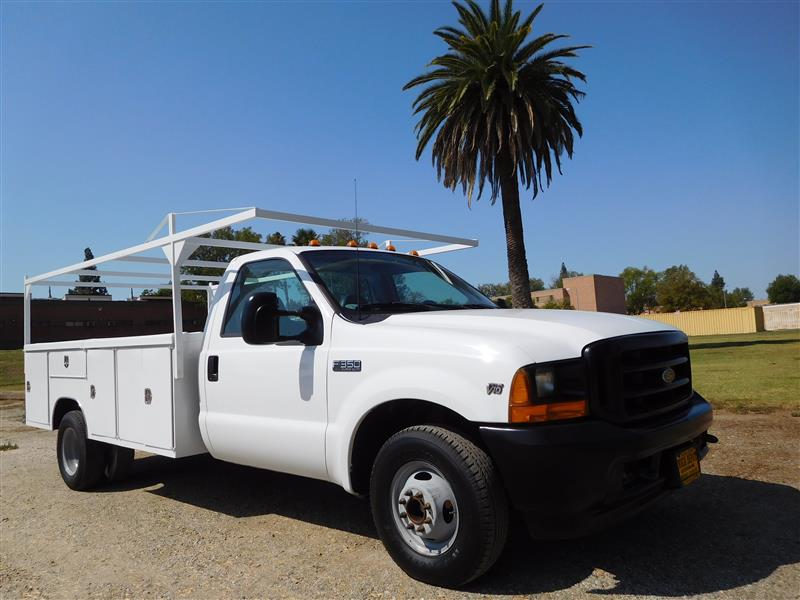 2001 FORD F-350 UTILITY  2001 ford f-350 utility truck v-10 auto trans ac low 114k miles 11