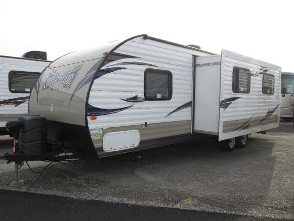 2014 WILDWOOD X-LITE 262BHXL neutral the innovative design of the wildwood x-lite travel trailer