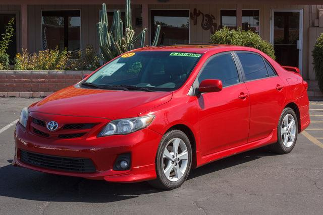 2012 TOYOTA COROLLA 4D SEDAN S AUTO Barcelona Red Metallic air conditioning wheels aluminumall