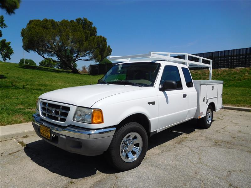 2003 FORD RANGER XLT WhiteGrey 2003 ford ranger extra cab utility truck v-6 auto trans ac lo