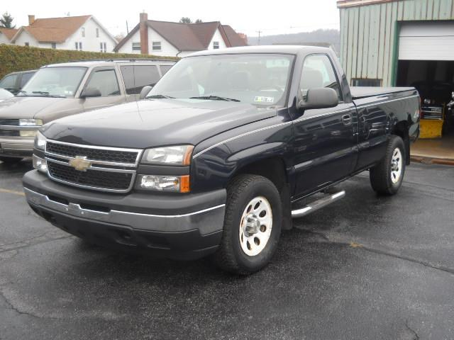 2006 CHEVROLET SILVERADO 1500 WORK TRUCK BLUEBLACK 73599 miles Stock No 06 reg cab VIN 1GCEK